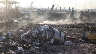 New Video Shows Two Iranian Missiles Hit Ukrainian Plane!