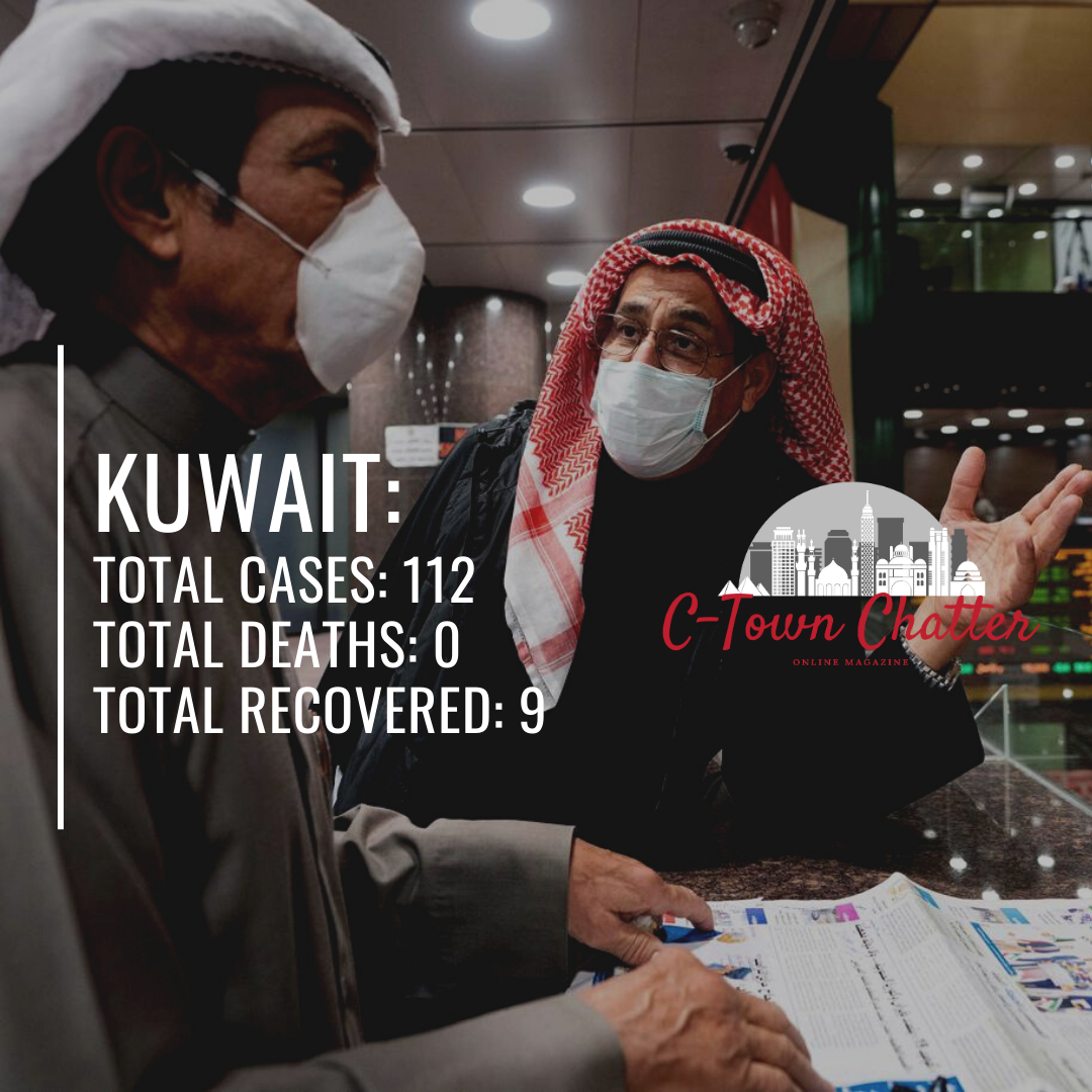 The Updated Number of Coronavirus Cases in the Middle East (3/15/2020)
