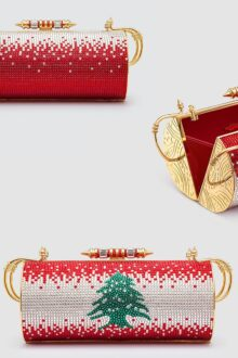 Okhtein Brand Supports Lebanon via This One of a Kind Auctioned Swarovski-Crystal Bag