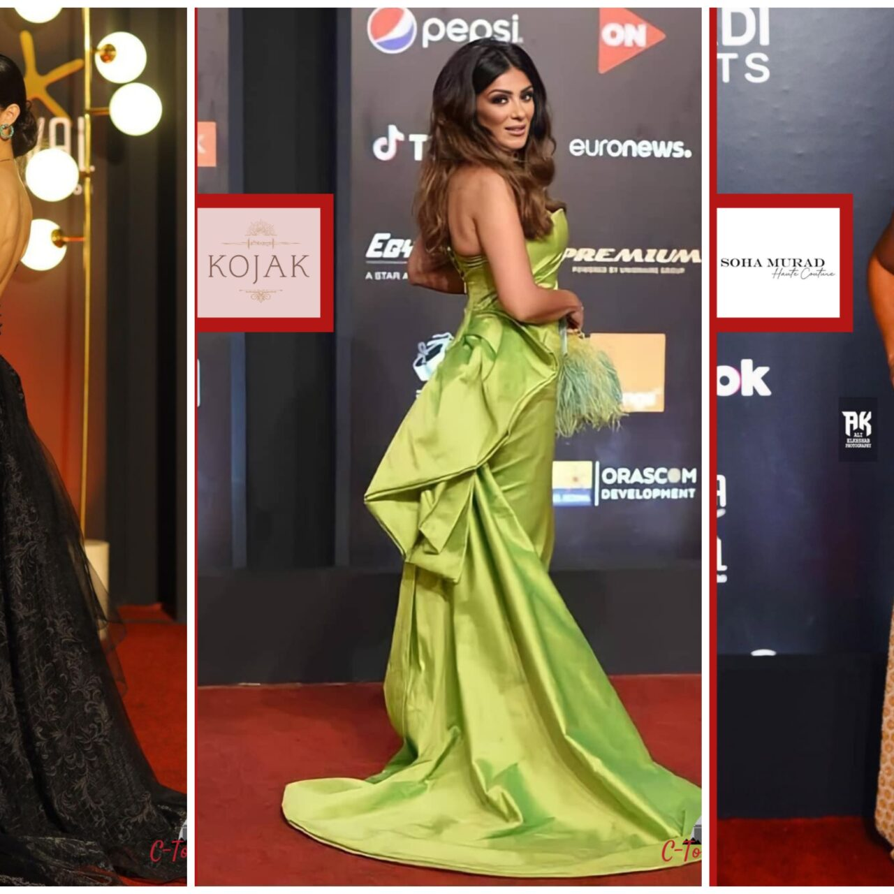 Gff2020: These Celebrities Walked Down the Red Carpet Wearing Egyptian Brands Like No Other
