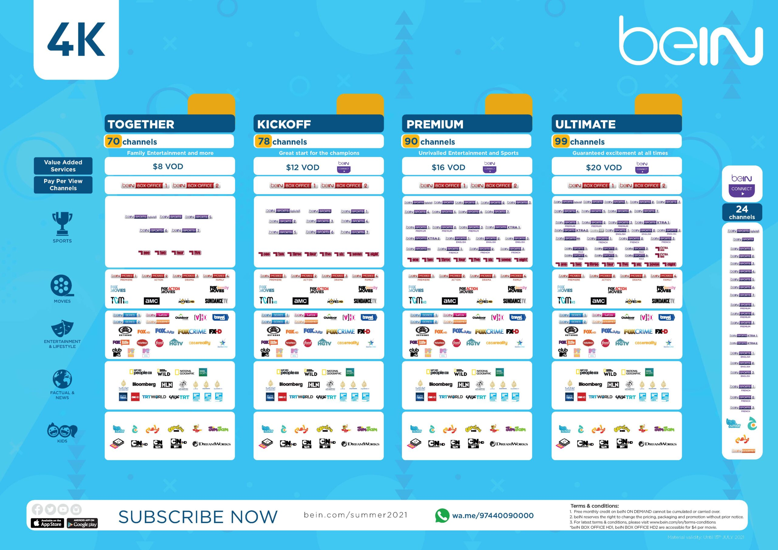 beIN Launches New Packages and TV Channels Ahead of Ramadan and 2021's Scintillating Summer of Sport