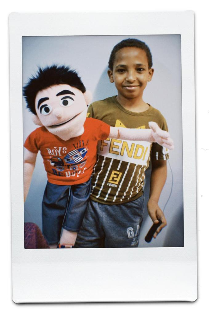 Puppet with friend